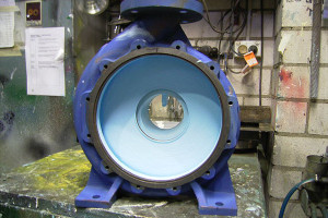 Glass coating of pump casing