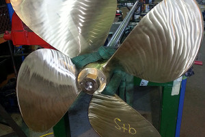 "Interference ""blueing"" checks of propeller on taper"