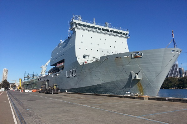 Navy engineering maintenance HMAS Choules expert welding and mechanical fitting