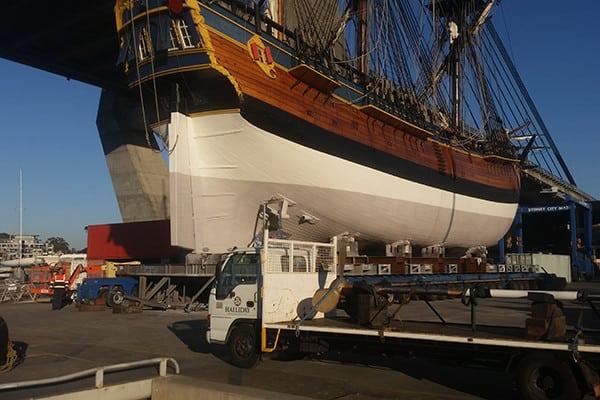 HMB Endeavour – propulsion system survey and prop shaft repair work undertaken